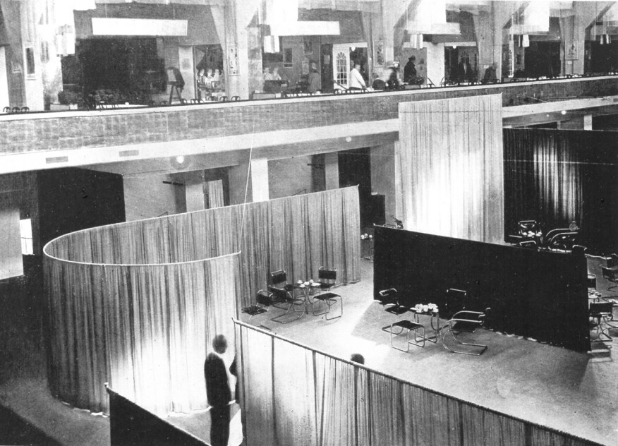 View of the 1927 Velvet and Silk Café in Berlin by Lilly Reich.