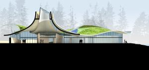 VanDusen Botanical Gardens' new visitor center in Vancouver, British Columbia, designed by Busby Perkins+Will, is another project aiming to meet the sustainable requirements of the Living Building Challenge.