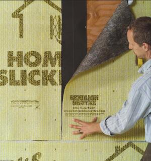 Home Slicker is a three-dimensional nylon matrix that provides a space for drainage behind cladding. It also creates a thermal break and pressure equalization, which helps eliminate trapped moisture.