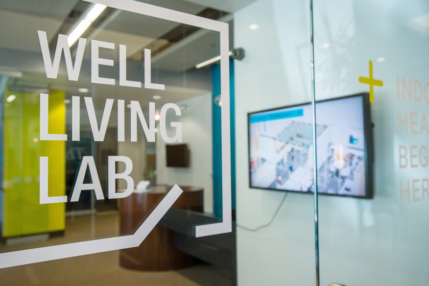 The Well Living Lab occupies the third floor of the Minnesota BioBusiness Center in Rochester, Minn.