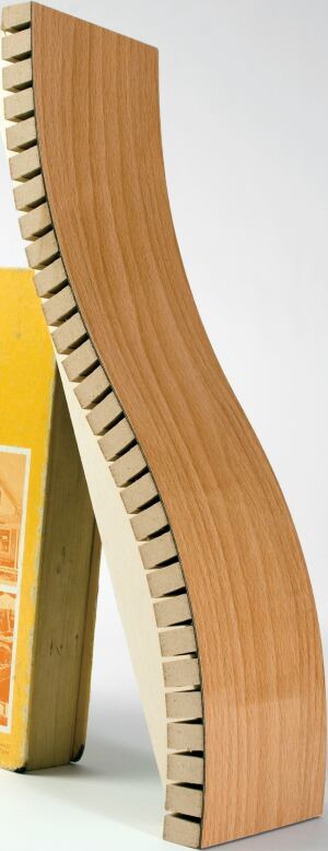 """round the bend  In lieu of drywall, PLUSone turns to flexible architectural panels from Interior Products of Brunswick, Ga., for architectural detailing. """"In a ceiling, you can use it as the finish without any other treatment,"""" Baird explains. Kerfkore is"""