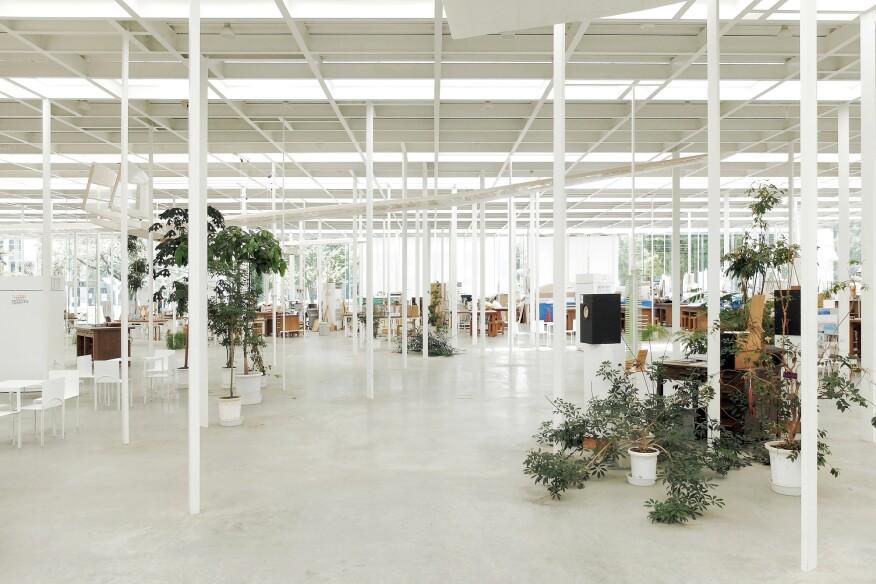 Forest of columns: Kanagawa Institute of Technology Workshop by Junya Ishigami, Kanagawa, Japan, 2008.