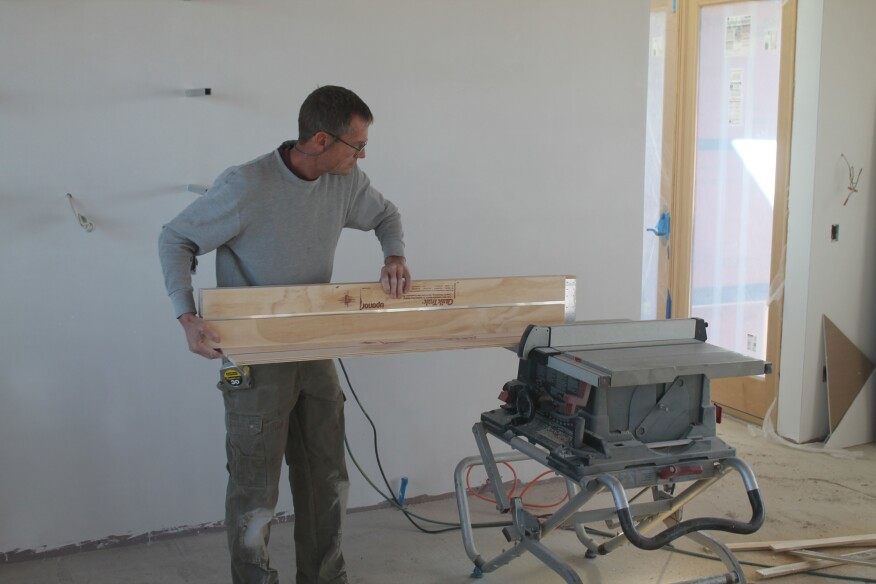 The panels come either as singles or bundled together accordion style. If a single panel is needed, it can easily be separated from the bundle with a table saw.