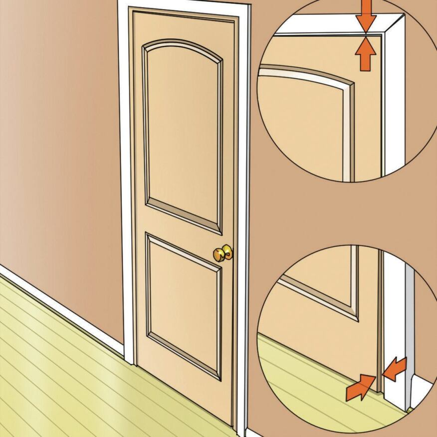 Legs Akimbo: For whatever reason, rough door jacks are sometimes out of plumb in different directions and door openings are neither flat nor square. When that happens, doors won't close properly and the results aren't pretty—or functional.