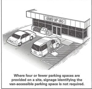 "In December 2015, the department updated the ""Restriping Parking Spaces"" brief with simple explanations and great graphics. This is one of several helpful graphics in the new brief on how to make parking lots and structures accessible."