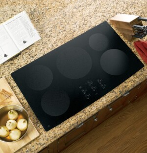"The GE Profile Series 36"" electric induction cooktop has five burners and the company's most powerful cooking element."