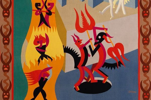 Little Black and White Devils, Dance of Devils, Fortunato Depero, 1922–23.