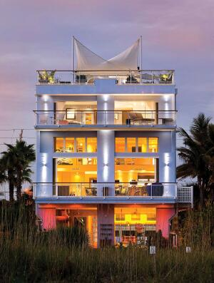 On the Waterfront  Custom-built by MyGreenBuildings, this Siesta Key Beach, Fla., home is Platinum rated by the U.S. Green Building Council and is considered one of the most eco-friendly homes in the state.
