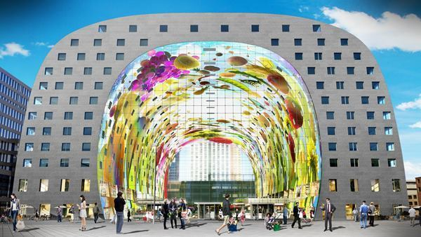 Rendering of Markthal in the Netherlands.