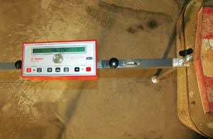The D-Meter displays the aggregate depth that has been removed.