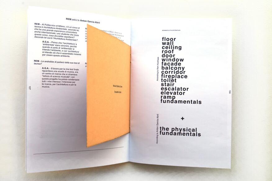 """The third issue, which interviews Christian Heuchel and Anton Garcia Abril, initiates the conversation by talking about """"architecture seen by the point of the view of the camera,"""" but each designer takes the dialogue to very different places about art, education, and technique."""