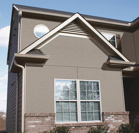 Nichiha Stucco and Grooved 8-inch On-Center Vertical Panels
