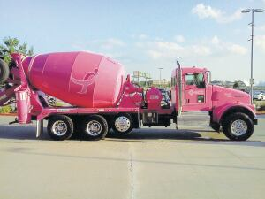 GCC Ready Mix painted six new trucks pink to raise breast cancer awareness.