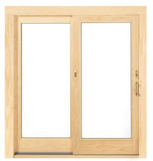 Andersen's Stormwatch sliding door eliminates the need for shutters.