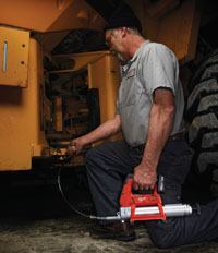 Milwaukee's new grease gun speeds up daily servicing with its ergonomic design and cordless power.