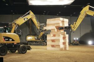 Caterpillar's first Built For It campaign video shows off the powerful and playful sides of the company's machines by pitting them against a large-scale Jenga game.