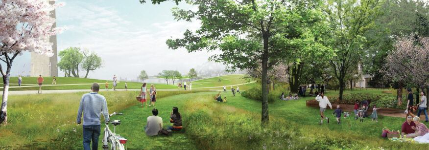 Weiss/Manfredi and Olin's winning competition proposal for the Sylvan Theatre at the Washington Monument also called for restoring native plantingsin Sylvan Grove.