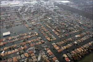 Hurricane Katrina devestates New Orleans in August 2005.