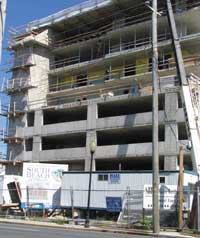 GOING UP: Hurricanes in the South are expected to impact pricing even on projects like this one in Ocean City, Md.