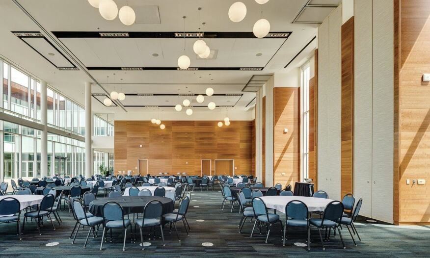 The 400-seat ballroom is the only space in the region large enough to host conventions and conferences and is accessible by the public.