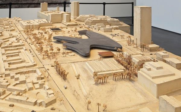 """""""The Presence of the Past: Peter Zumthor Reconsiders LACMA,"""" installation view."""
