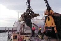 Crews Grind Away on Sandy Underwater Debris Removal