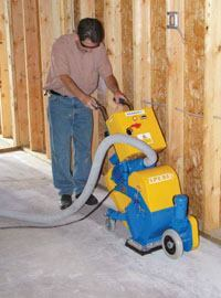 Electric shotblasters come in a range of sizes, including easily portable machines suitable for small-scale projects.