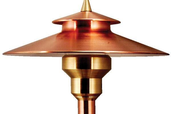 "La Jolla LPL6 from Auroralight is perfectly proportioned for small pathways and intimate garden areas. Made of solid copper and brass with stainless steel hardware, the 6""-diameter, 17""-tall landscape luminaire is lamped with a high-output LED. An internal diffusion option offers a softer glow with no shadowing. La Jolla is designed for 10' to 18' spacing. auroralight.com"