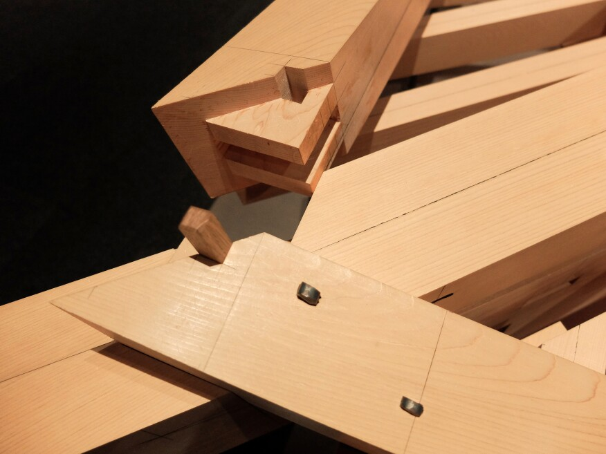 One of countless hands-on exhibits revealing the intricacies of Japanese joinery.