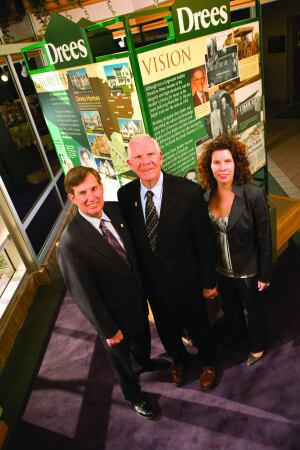 Left to right: David Drees, president and CEO; Ralph Drees, founder and chairman; and Barbara Drees-Jones, vice president of marketing