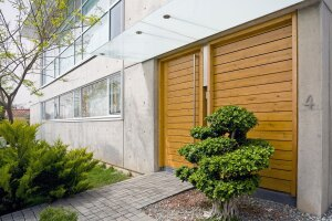 Front entry doors that wow are an emerging trend in residential design.