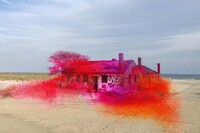 Artist Katharina Grosse Converts a Deteriorating Structure into Vibrant Sculptural Art