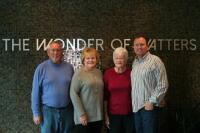 The generations: Watters Aquatech, a family firm, includes (L-R) owners Russ and Susan Watters, Nani Swecker and Dustin Watters.