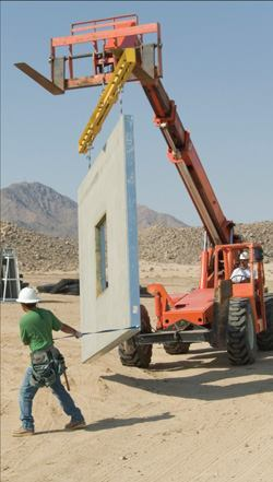 Lightweight, precast panels were easy to build and helped reduce energy and  material costs.