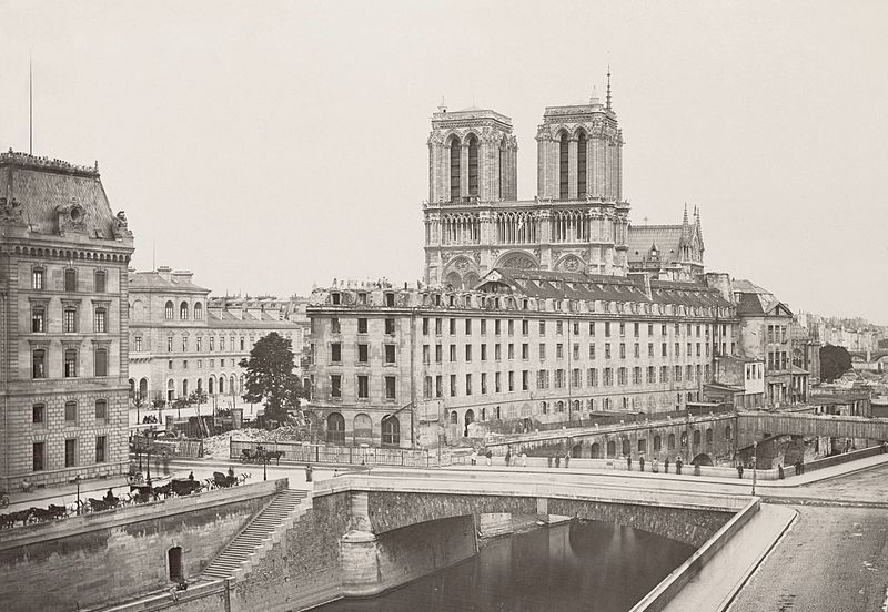 Prefecture of Police with Notre Dame in the background c. 1880