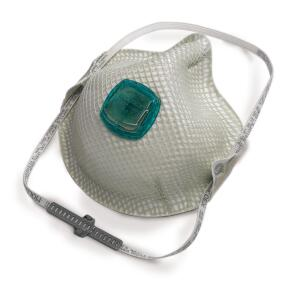 Mask/Respirator:  (The terms are used interchangeably.) The N-100 respirator  the standard required by the EPA  is disposable and looks like a surgeons mask. Reusable respirators (either full-face or half-mask) are also referred to as masks. They need filters; P100 designates the standard replacement filter. Note: OSHA ®requirements dictate which respirators to wear, and these may differ from those recommended by the EPA.
