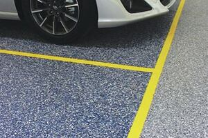 Epoxy used on Auto Showroom Floor