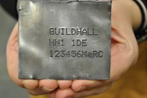 A new metal engraving system intended to reduce metal theft.