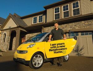 "ART OBJECT: Renaissance Homes' President Randy Sebastian leveraged the Mercedes Smart Car, labeled  by a local dealer as ""the most endearing, fun-to-drive, environmentally  friendly, and safe micro-car on the planet,"" to significantly  boost traffic and sales at several Portland, Ore., communities."
