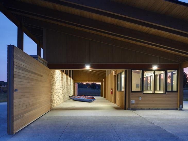 Terry Trueblood Boathouse, Iowa City, Iowa, by ASK Studio.