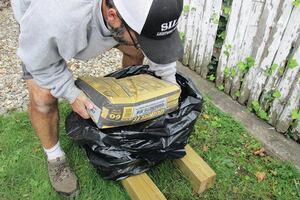 Keeping Concrete Mix Dry