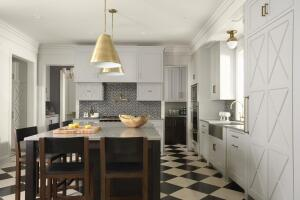 Rehkamp Larson Architects successfully blended modern lines with traditional forms in this Edina, Minn., kitchen.