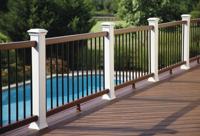 Trex Transcend railing comes in this new bevel style for a more minimalist, contemporary look.