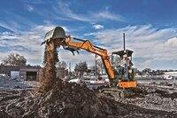 Upgraded compact excavators from Hitachi