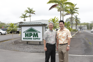 Mike (left) and Jason (right) Fujimoto of HPM Building Supply, Keeaau, Hawaii