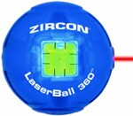 The size of a tennis ball, Zircon's LaserBall 360 demonstrates the trend toward smaller laser levels. 800.245.9265. www.zircon.com.