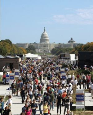 Thousands of spectators visited the 20 student-designed homes on display Oct. 9-18 on the National Mall in Washington, D.C. to view the latest in sustainable and energy-efficient building strategies