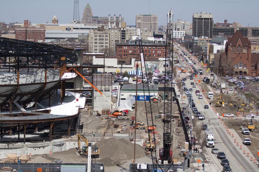 District Detroit under construction