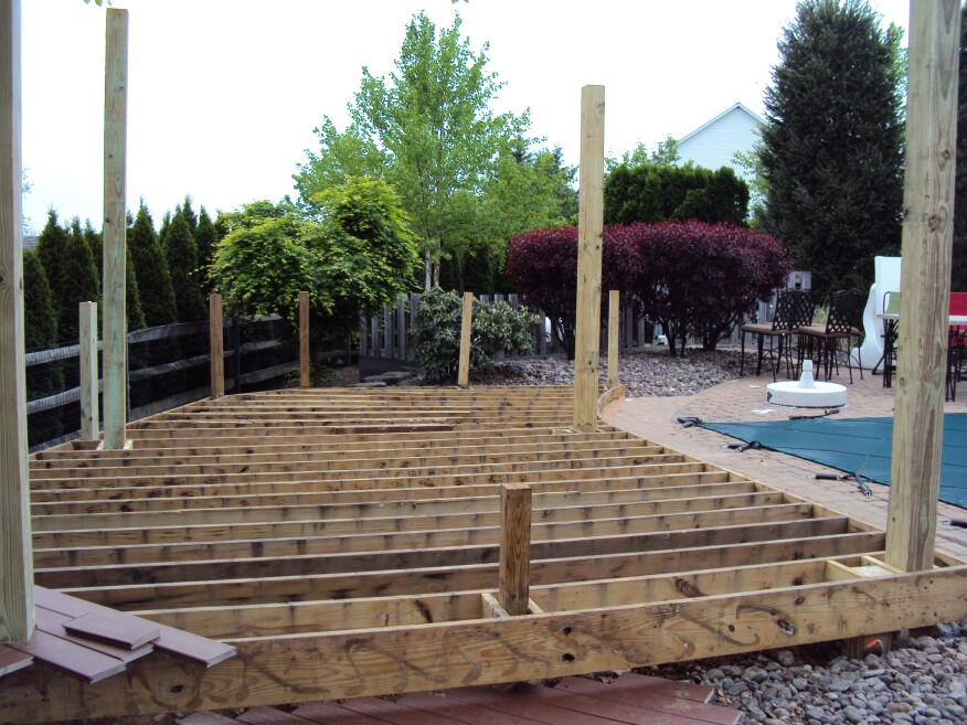 Ground rules for grade level decks professional deck for Low price decking