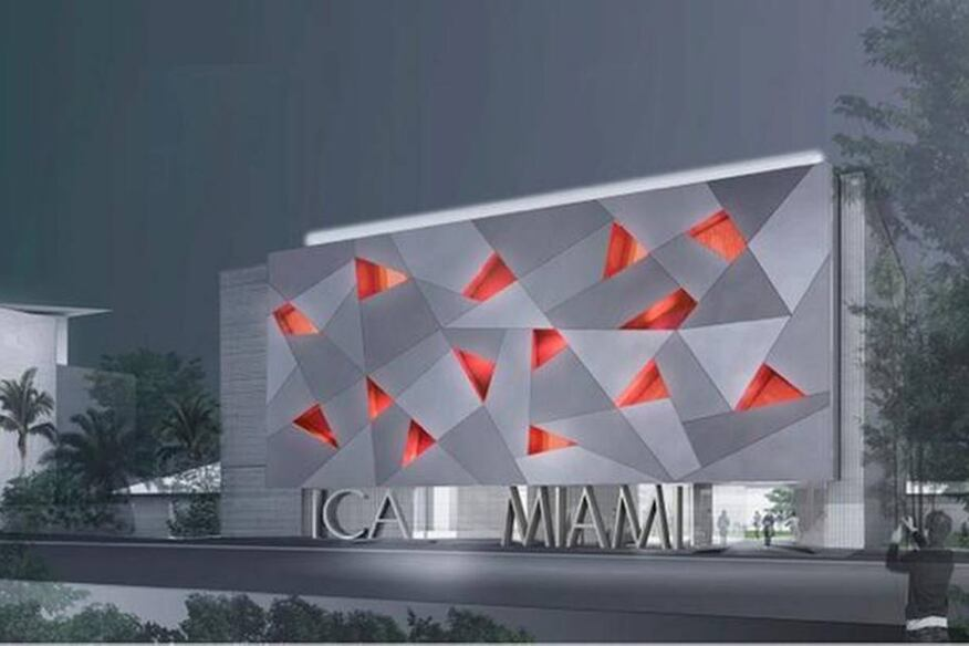 The proposed rendering of the south facade will feature lighted panels that will change colors.